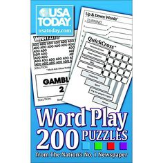 Three varieties phrases games today words plays book usa today