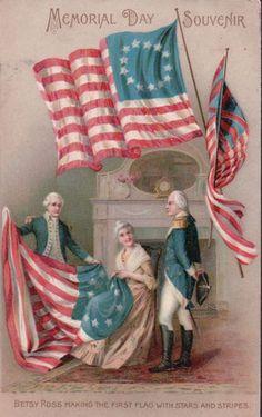 Vintage Patriotic Postcard Memorial Day 1908