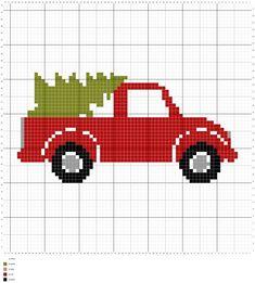 Farmhouse Truck Crochet Pillow - Patrones gratuitos - Briana K Designs - ., Farmhouse Truck Crochet Pillow - Patrones gratuitos - Briana K Designs - . Cross Stitch Cards, Cross Stitching, Cross Stitch Embroidery, Cross Stitch Pillow, Cross Stich Patterns Free, Cross Stitch Designs, Free Pattern, Cross Stitch Patterns Free Christmas, Crochet Pattern
