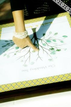 Nice Idea...a Wedding#Tree with all the guests' fingerprints!