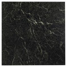 "NEXUS Self Adhesive Vein Marble Vinyl Floor Tile - Black/White (12""x12"")…"
