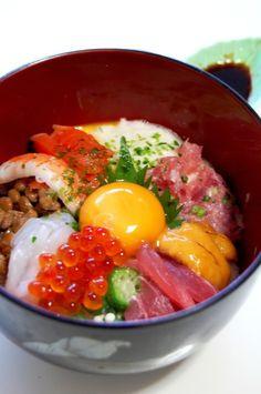 ★Bakudan-Donburi★ ネバネバ~が元気の素に! お好みの魚介でズルズル・ガッツリ♪