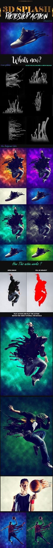 3D Splash #Photoshop Action 2 - Photo Effects #Actions Download here: https://graphicriver.net/item/3d-splash-photoshop-action-2/20063203?ref=alena994
