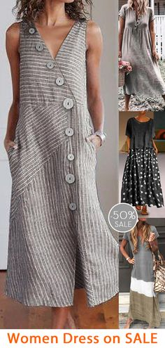Womens casual maxi dress now OFF. Quirky Fashion, Fashion Mode, Boho Fashion, Fashion Dresses, Mode Plus, Sewing Clothes, Cool Outfits, Trendy Outfits, Casual Dresses