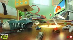 Concept art for the mobile game 'Angry Birds Go'