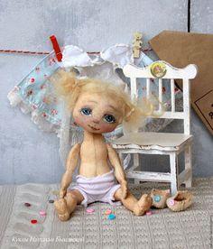 Сказочные персонажи ручной работы. Ярмарка Мастеров - ручная работа. Купить Куколка игрательная АНГЕЛ КРУЖЕВНОЙ. Handmade. Голубой, лён
