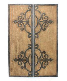 Look at this #zulilyfind! Distressed Wooden Wall Plaque Set by Screen Gems Furniture Accessories #zulilyfinds