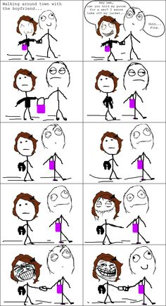 Le Hold My Purse - View more rage comics at http://leragecomics.com