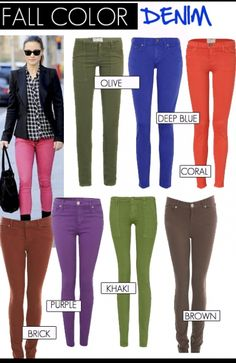 punk, fall trend | Colored Jeans Fall 2012 Trend Report | FashionBased | Fashion Based