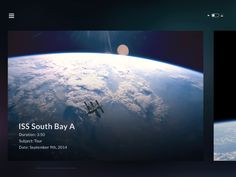 Something a bit different than what I usually post - UI design for an app about real life outer space