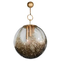1stdibs - Rare and Exquisite Smoked Murano Globe Chandelier with Liquified Amber Tones explore items from 1,700  global dealers at 1stdibs.com