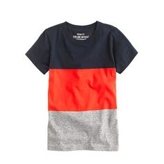 J. Crew Boys' tee in nightshadow colorblock stripe Sid, size 6-7