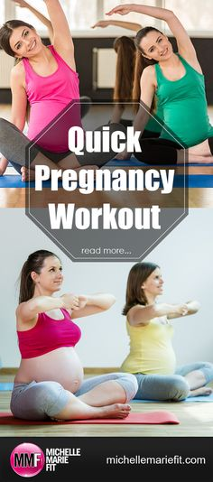 Quick Pregnancy Workout Plan. Safe for every trimester. Great for not gaining a…