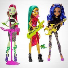 The new monster high fierce rockers line will be release January/February 2016. The characters in this line are catty noir and toralei stripe in a 2-pack and clawdeen wolf, Venus mcflytrap an...