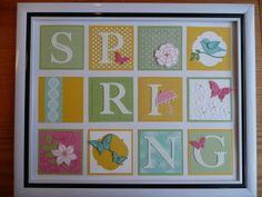 Spring Collage by Sue Drew. Paper, stamps and tools by Stampin Up!