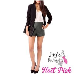 HOST PICKNWOT High Waist Leather ShortS NWOT Forever 21 High Waisted Leather Shorts with hidden back zipper.Color: Dark Silver Size: Extra Small.  NEW WITHOUT TAGS. Host Pick 1/26/16by @bellanblue Forever 21 Shorts