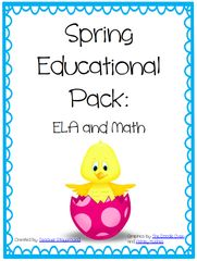 It's Starting to Get Cold Celebration! Enter for your chance to win 1 of 4. Spring Educational Bundle: ELA and MATH  (111 pages) from Teacher Playground on TeachersNotebook.com (Ends on on 12-02-2016) It's Starting to Get Cold here in Baton Rouge, Louisiana. With that, I think its time for a giveaway!! Good luck to each of you..