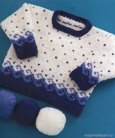 Пуловер с морскими мотивами