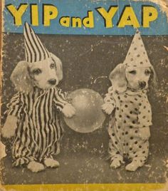 I'm simultaneously horrified and amused by this vintage children's book cover. It sort of reminds me of old circus sideshow posters.