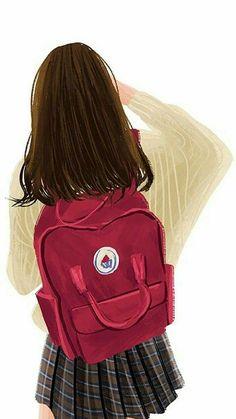 Most Popular brown hair aesthetic girl cartoon ideas Girl Cartoon, Cute Cartoon, Cartoon Art, Cartoon Ideas, Backpack Drawing, Cover Wattpad, Desenhos Love, Cute Girl Wallpaper, Beautiful Anime Girl