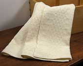 Handwoven Towel for Kitchen or Bath Shaker Style Natural Cotton