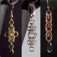 Three Exquisite Pairs of Earrings: Intro to Chain Mail #3 Instructor: Marilyn Gardiner