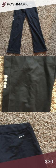 Nike fleece lined running pants. Nike fleece lined running pants with reflective side. Nike Pants Track Pants & Joggers