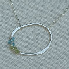 Life Circle Birthstone Necklace Sterling Silver Swoon Jewelry