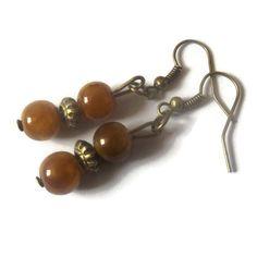 Bead Earrings by TaylorsArtsAndCrafts on Etsy