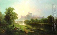 Windsor Castle Painting by Edward Moran Reproduction Thomas Moran, Impressionist Artists, Windsor Castle, Japanese Artists, Art Of Living, American Artists, Landscape Art, Impressionism, Art Gallery