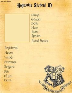 Hogwarts Student ID base. by ~Harry-Potter-Addict on deviantART
