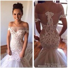 High quality New Wedding dress 2017 Real Sample Hot sale Fashion strapless Tulle lace Mermaid Wedding dress,483