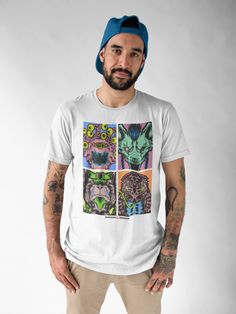 Buy Dungeons and Dragons Monsters Warhol Print Mens T-Shirt at GameStop and browse customer reviews, images, videos and more. GameStop has a wide variety of apparel to suit your every need! Holiday List, Warhol, Dungeons And Dragons, Monsters, Suit, Videos, T Shirt, Supreme T Shirt, Tee Shirt