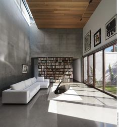 The Beaumont House / Henri Cleinge - beautiful project; I love the concrete and the clerestory