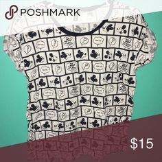 Oversized Disney Comic Strip Shirt ✨Welcome to my shop!  💘Make me an offer  ✨Happy to answer questions  💘Just leave a comment if you want another picture of a different side or angle  ✨I discount all bundles  💘All items I've bought directly from retailers  ✨Thanks for stopping by and happy poshing! H&M Tops Tees - Short Sleeve