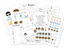 1+1+1=1...Princess Preschool Packables: FREE downloads with sorting cards, poems and coloring pages.  God's Princess!