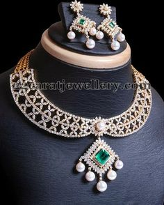 Dazzling Choker with Brilliant Cut Diamonds | Jewellery Designs