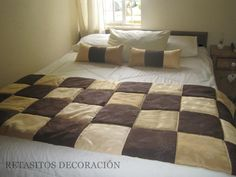 pieceras originales - Buscar con Google Ideas Hogar, Bed Runner, Bed Sheets, Diy And Crafts, Cushions, Quilts, Rugs, House, Irene