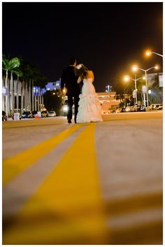 Night shoot. South Beach Wedding. Miami Wedding. Brittany Anderson Photography