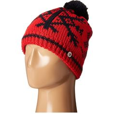 Bogner Fire + Ice Elon (Red/Navy) Caps ($67) ❤ liked on Polyvore featuring accessories, hats, multi, navy hat, pom beanie, beanie cap hat, beanie hat and red cap