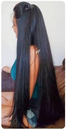 Black Hair Video, Long Black Hair, Indian Long Hair Braid, Braids For Long Hair, Indian Hairstyles, Cool Hairstyles, Hair Setting, Queen Hair, Super Long Hair