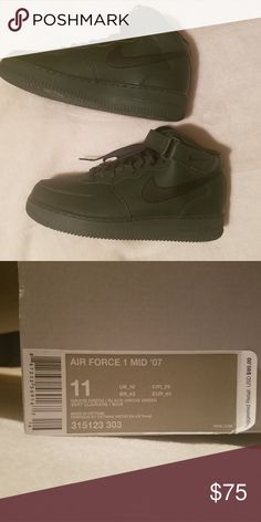 0d7cedcf078b32 Nike Air Force 1 Mid 07 Grove Green Black Grove- New without tags.