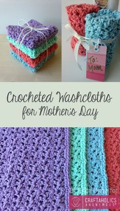 How to crochet Washcloths || awesome Mother's Day gift idea!