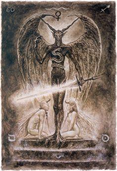 Luis Royo - Major Arcana: The Devil (off 'The Labyrinth Tarot') Dark Fantasy, Fantasy Art, Vampires, Gravure Photo, Satanic Art, Tarot Major Arcana, Luis Royo, Russian Painting, Spanish Artists