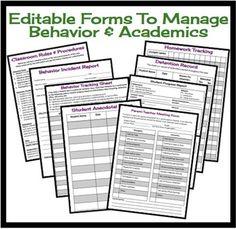 Classroom Management Resource Bundle: Middle & High School