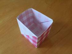 長方形の紙で作る箱