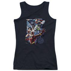 Justice League of America - Galactic Attack Color Junior Tank Top