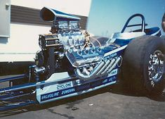 Keeling & Clayton California Charger. One of the most beautiful Top Fuel dragsters ever. A showpiece, and a hard charger!