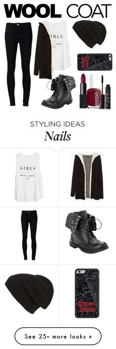 """""""Cold Weather Essentials: Wool Coat"""" by sad11 on Polyvore featuring MANGO, Zara, Ström, Phase 3, NARS Cosmetics and Essie"""