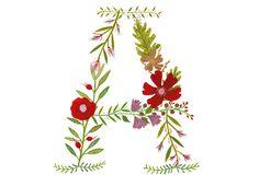 Flower Monograms — Rebekka Seale art & illustration